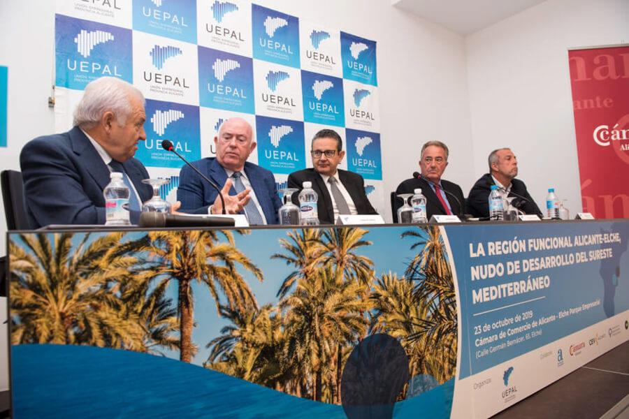 """MESA """" LA REGIÓN FUNCIONAL ALICANTE-ELCHE, NUDO DE DESARROLLO DEL SURESTE MEDITERRÁNEO"""""""